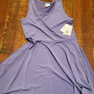Bnwt lularoe solid purple Nicki   dress sz M